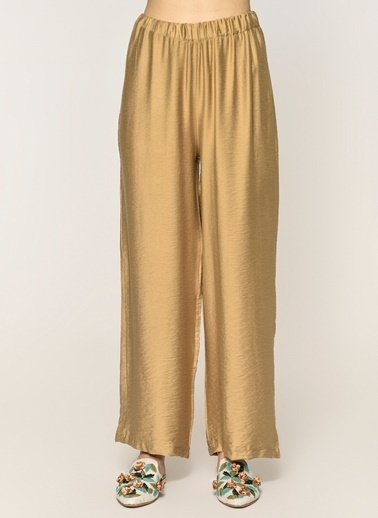 Loves You Beli Lastikli Bol Baharlık Pantolon Camel